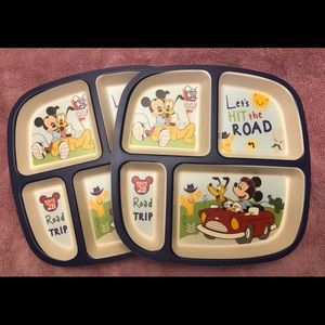 Mickey Bamboo Kids Sectioned Plates